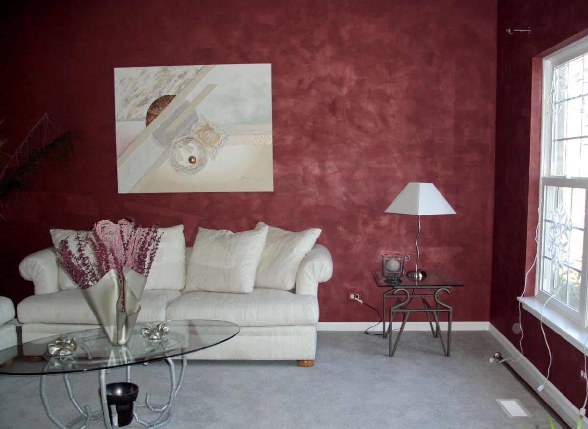 Декоративная штукатурка - лучшие красивые варианты отделки стен в интерьере 007