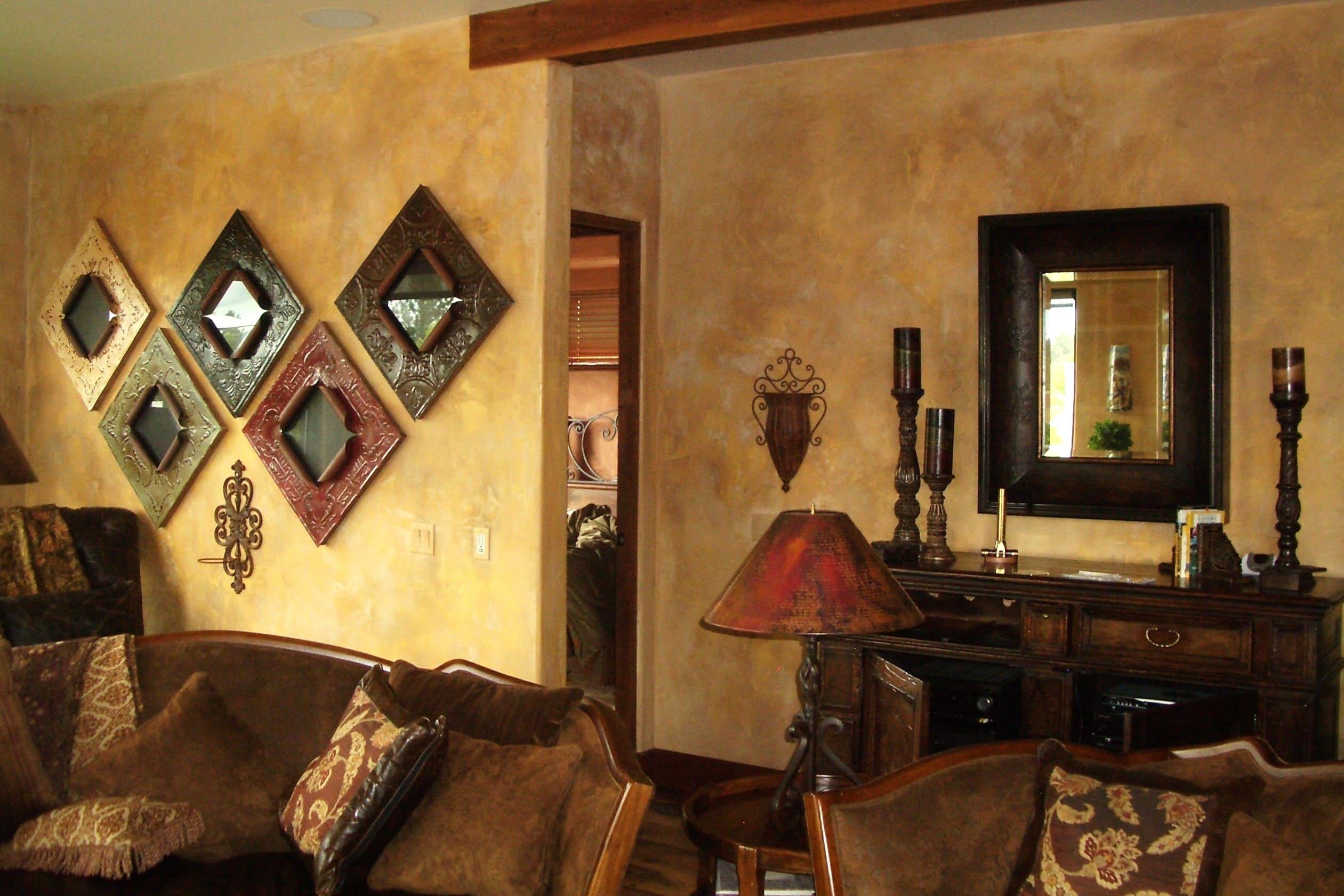 Декоративная штукатурка - лучшие красивые варианты отделки стен в интерьере 011