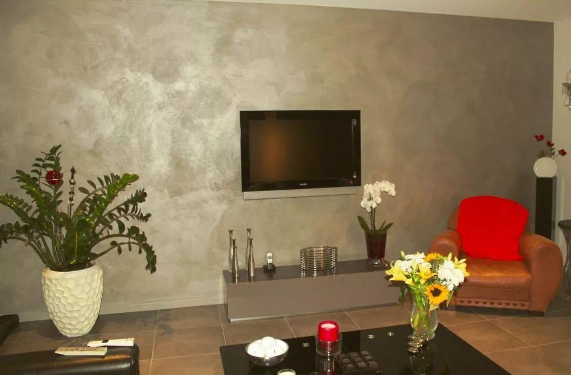 Декоративная штукатурка - лучшие красивые варианты отделки стен в интерьере 013