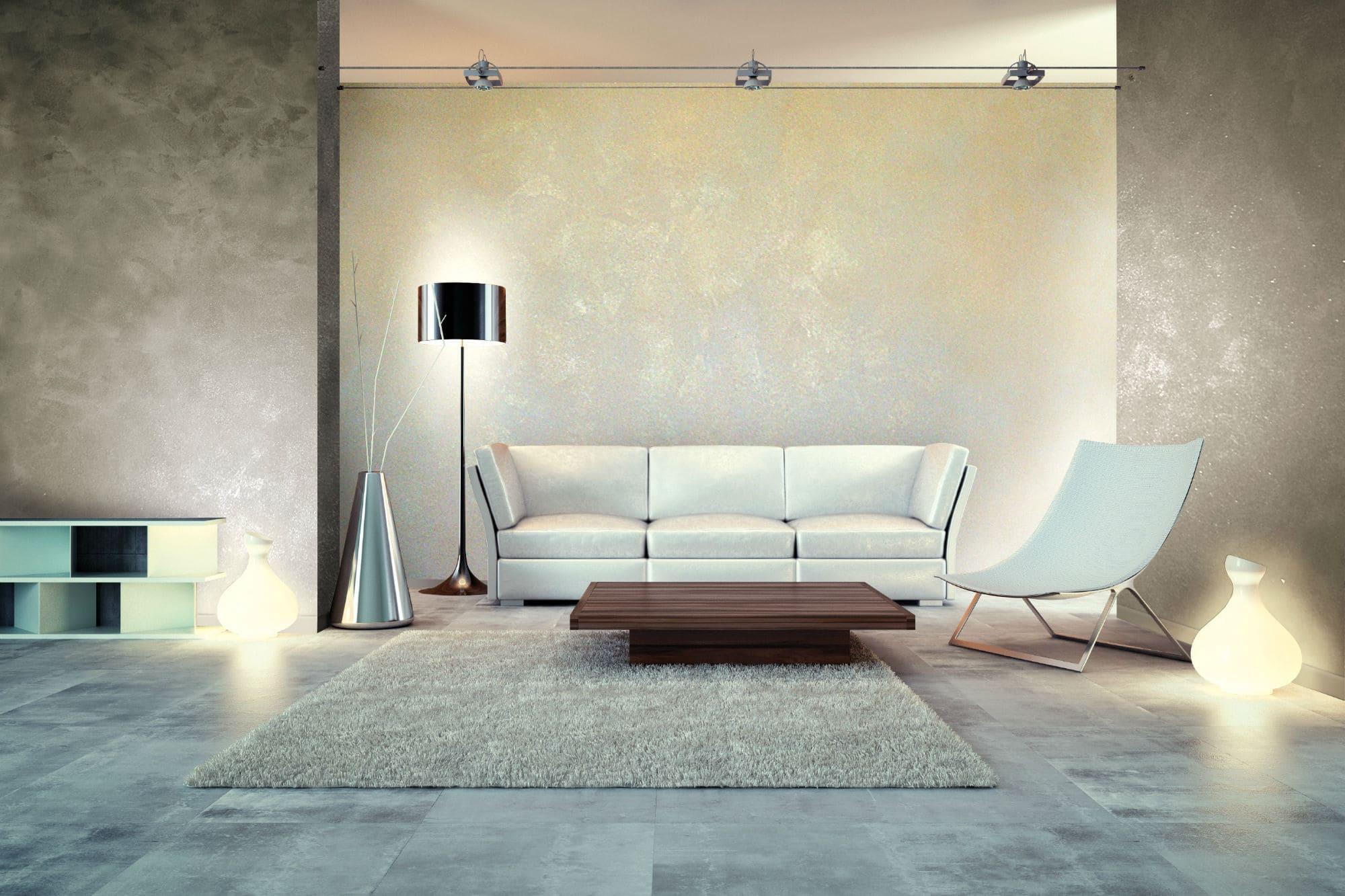 Декоративная штукатурка - лучшие красивые варианты отделки стен в интерьере 018