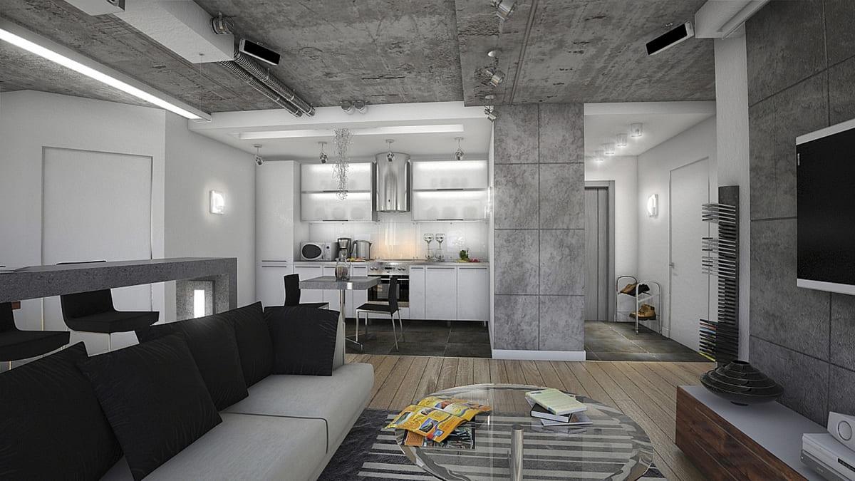 Декоративная штукатурка - лучшие красивые варианты отделки стен в интерьере 022