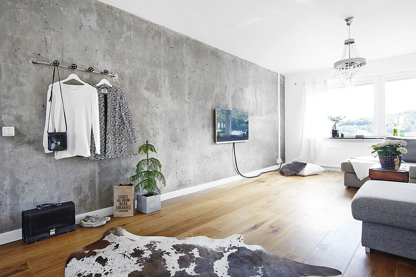 Декоративная штукатурка - лучшие красивые варианты отделки стен в интерьере 023