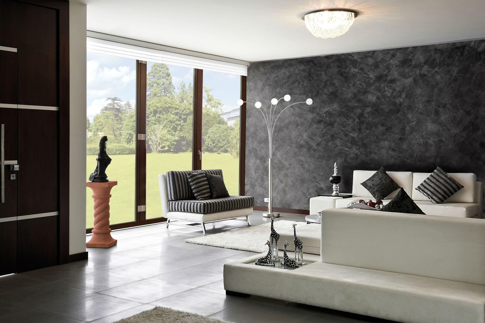 Декоративная штукатурка - лучшие красивые варианты отделки стен в интерьере 024