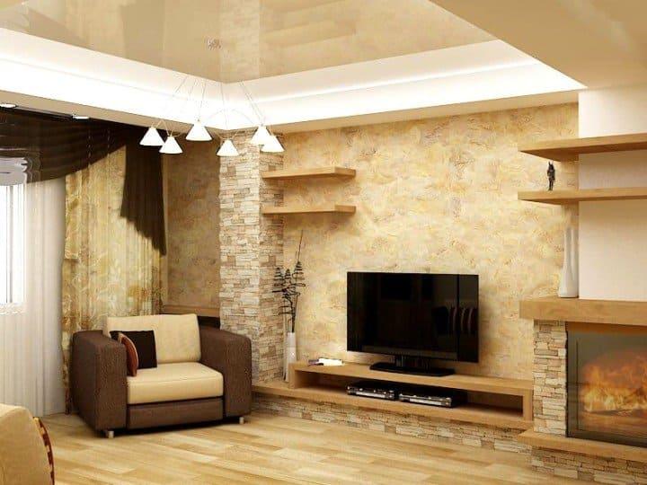 Декоративная штукатурка - лучшие красивые варианты отделки стен в интерьере 026