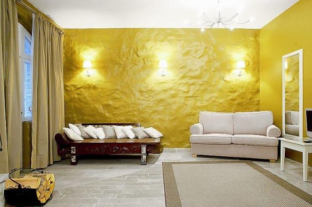 Декоративная штукатурка - лучшие красивые варианты отделки стен в интерьере 027