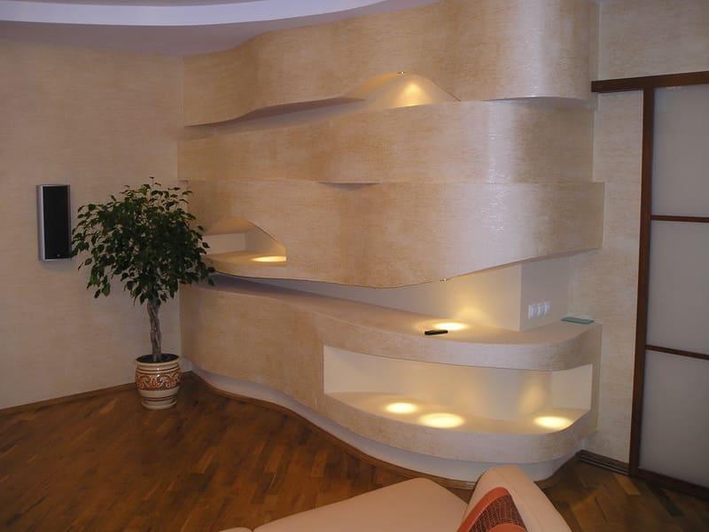 Декоративная штукатурка - лучшие красивые варианты отделки стен в интерьере 032