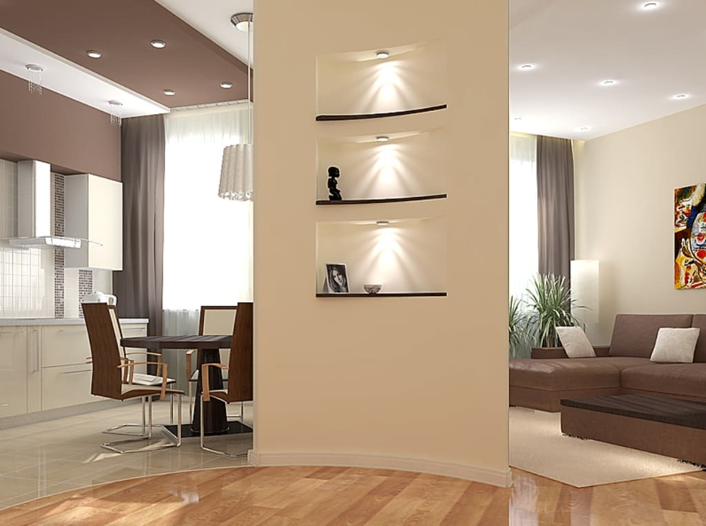 Декоративная штукатурка - лучшие красивые варианты отделки стен в интерьере 033