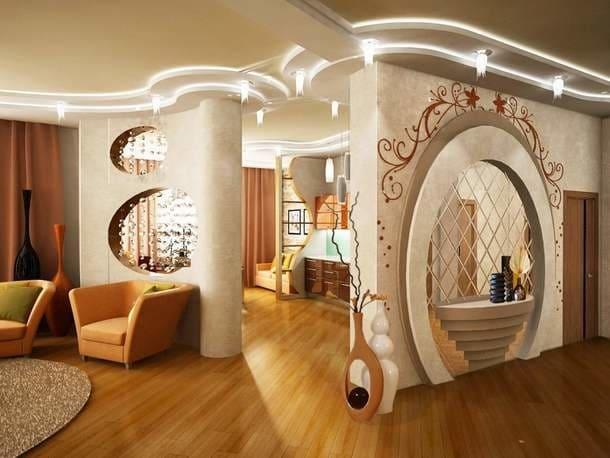 Декоративная штукатурка - лучшие красивые варианты отделки стен в интерьере 034