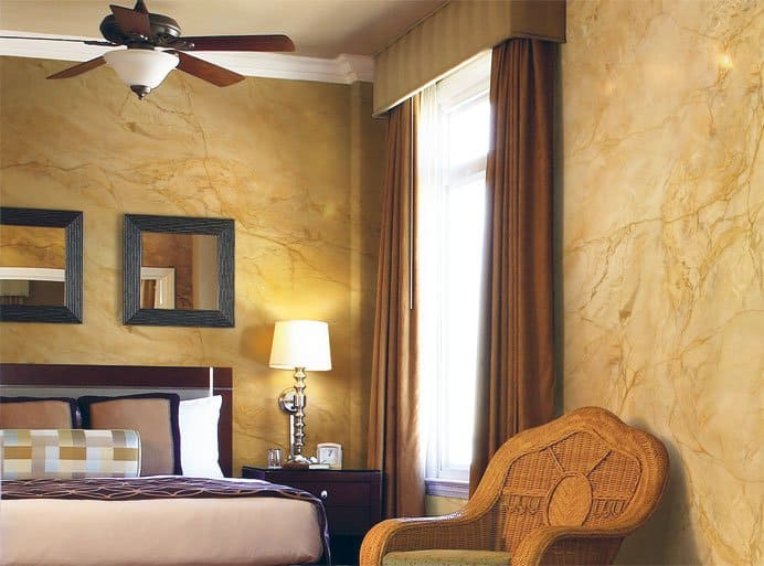 Декоративная штукатурка - лучшие красивые варианты отделки стен в интерьере 037