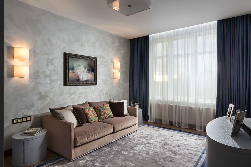 Декоративная штукатурка - лучшие красивые варианты отделки стен в интерьере 040