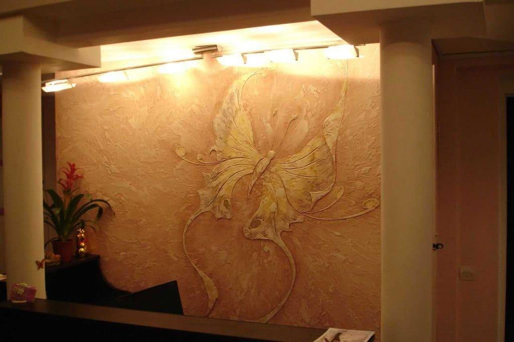 Декоративная штукатурка - лучшие красивые варианты отделки стен в интерьере 041