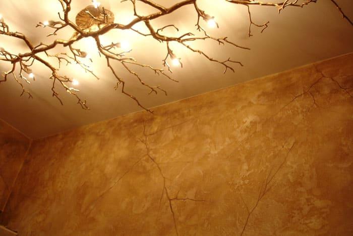Декоративная штукатурка - лучшие красивые варианты отделки стен в интерьере 044