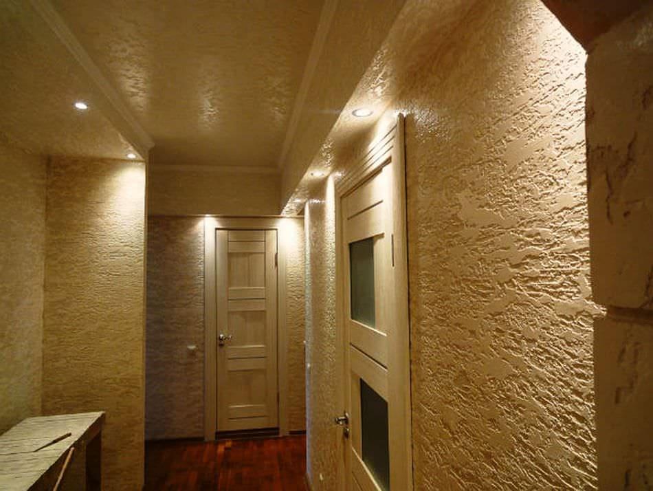 Декоративная штукатурка - лучшие красивые варианты отделки стен в интерьере 045