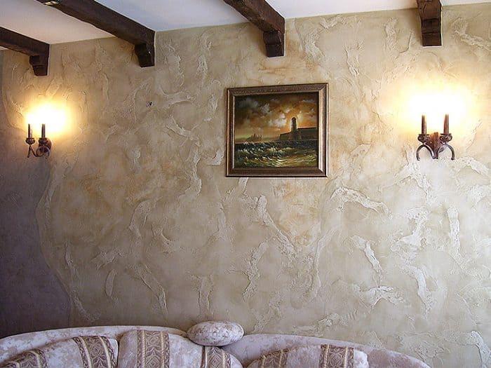 Декоративная штукатурка - лучшие красивые варианты отделки стен в интерьере 046