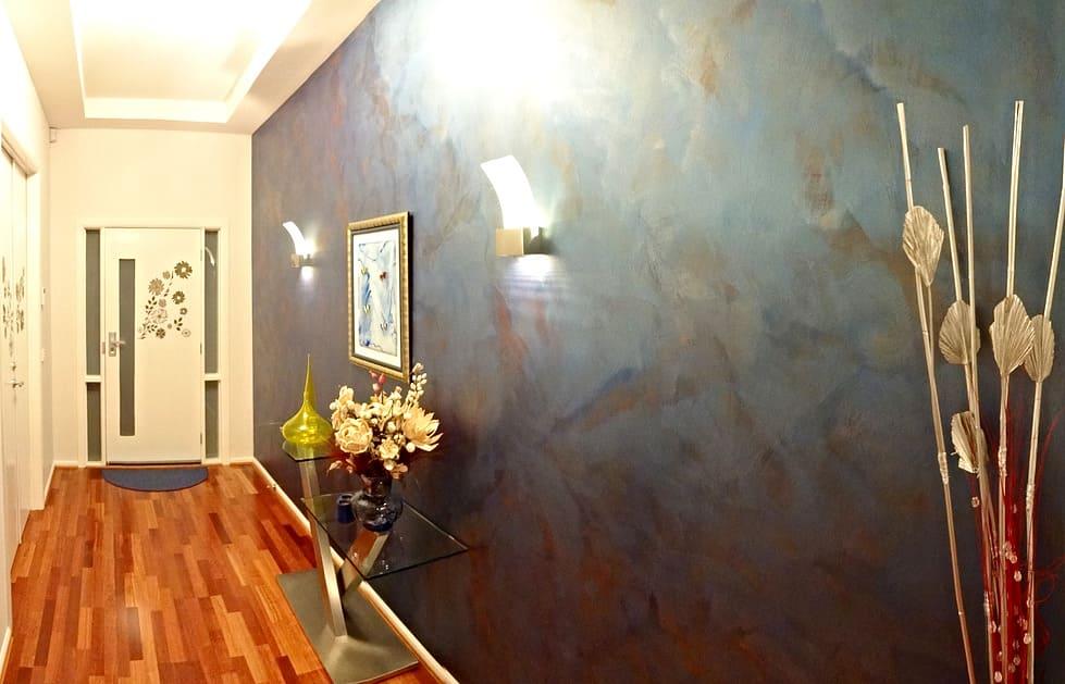 Декоративная штукатурка - лучшие красивые варианты отделки стен в интерьере 047