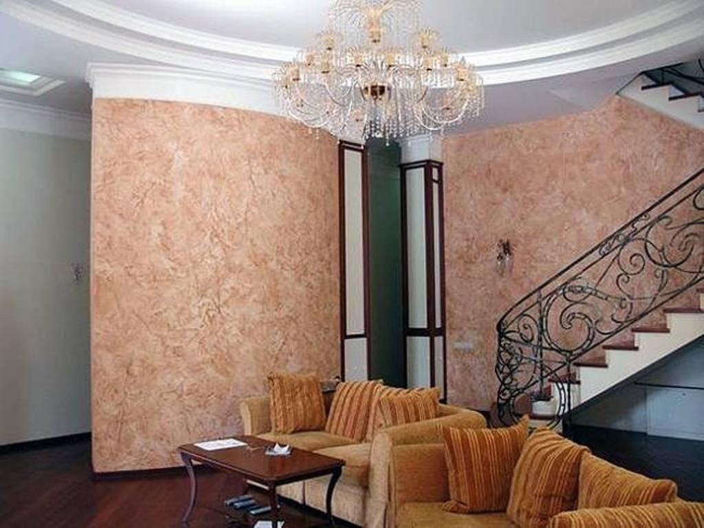 Декоративная штукатурка - лучшие красивые варианты отделки стен в интерьере 048