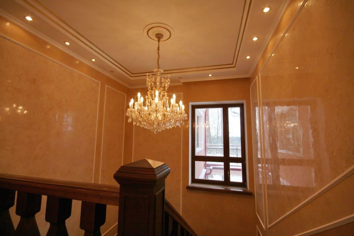 Декоративная штукатурка - лучшие красивые варианты отделки стен в интерьере 050