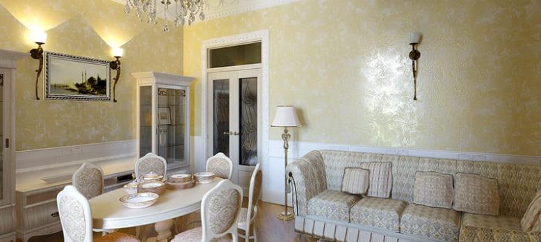 Декоративная штукатурка - лучшие красивые варианты отделки стен в интерьере 053