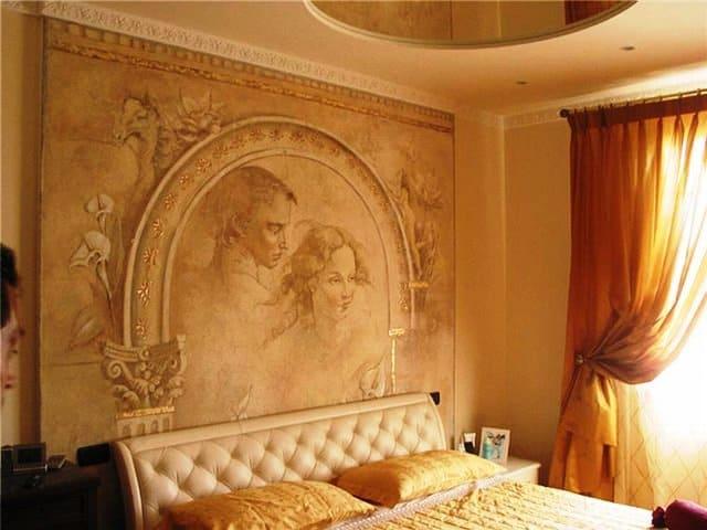 Декоративная штукатурка - лучшие красивые варианты отделки стен в интерьере 054