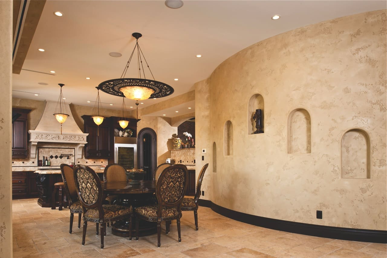 Декоративная штукатурка - лучшие красивые варианты отделки стен в интерьере 055