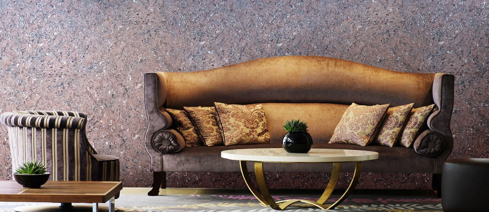 Декоративная штукатурка - лучшие красивые варианты отделки стен в интерьере 056