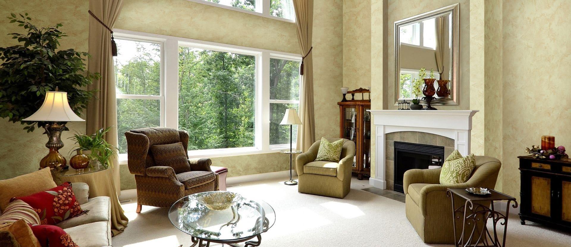 Декоративная штукатурка - лучшие красивые варианты отделки стен в интерьере 058