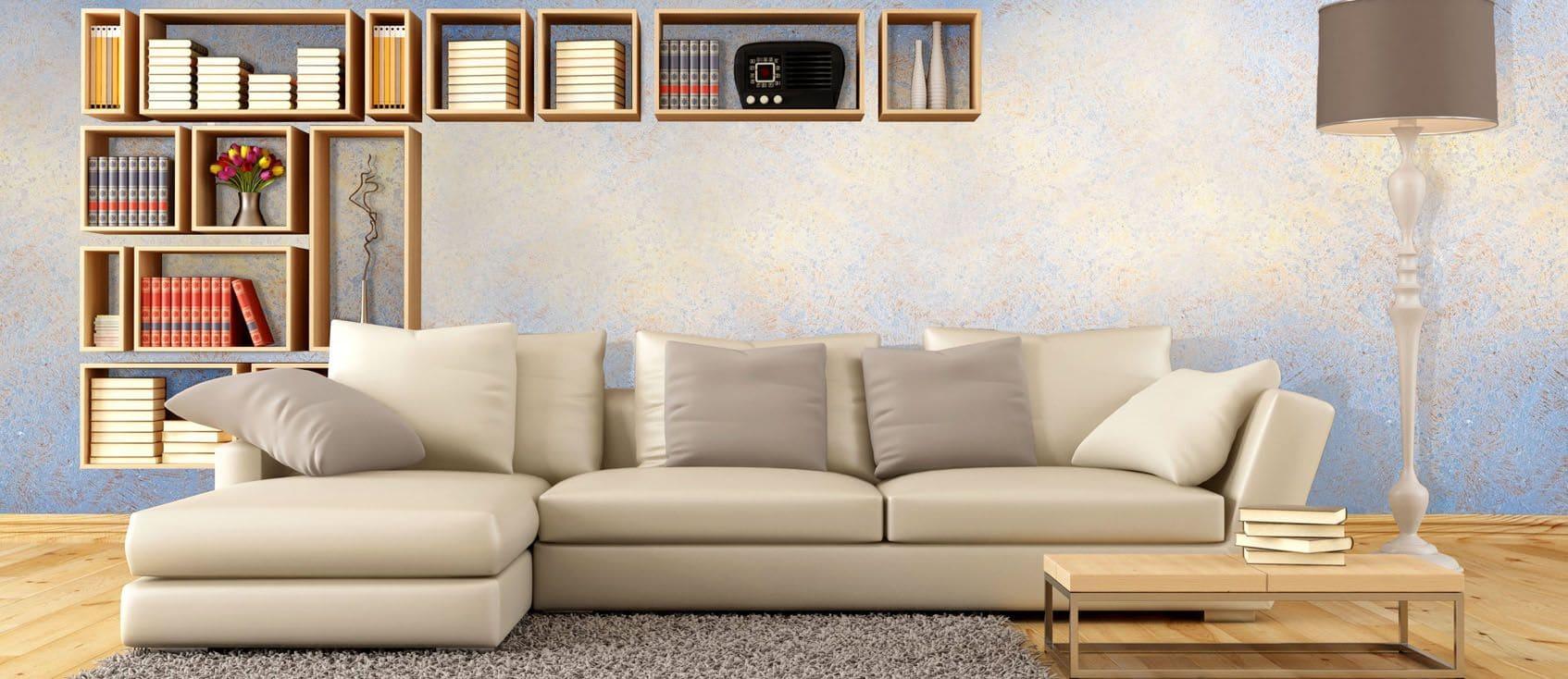 Декоративная штукатурка - лучшие красивые варианты отделки стен в интерьере 062