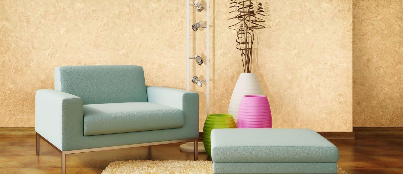 Декоративная штукатурка - лучшие красивые варианты отделки стен в интерьере 063