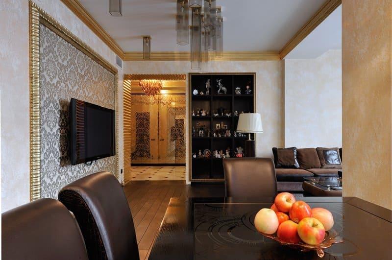 Декоративная штукатурка - лучшие красивые варианты отделки стен в интерьере 065