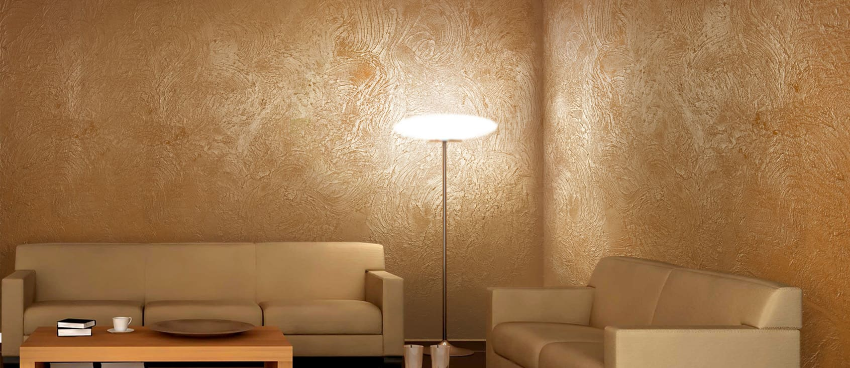Декоративная штукатурка - лучшие красивые варианты отделки стен в интерьере 067