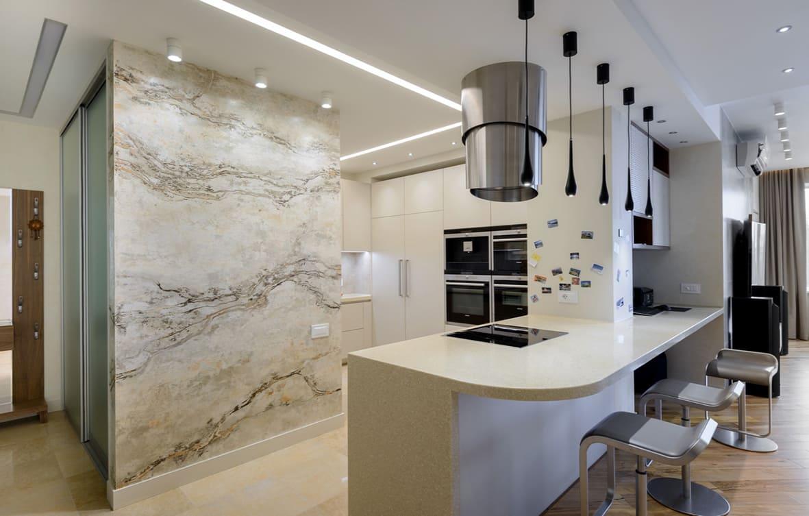 Декоративная штукатурка - лучшие красивые варианты отделки стен в интерьере 072
