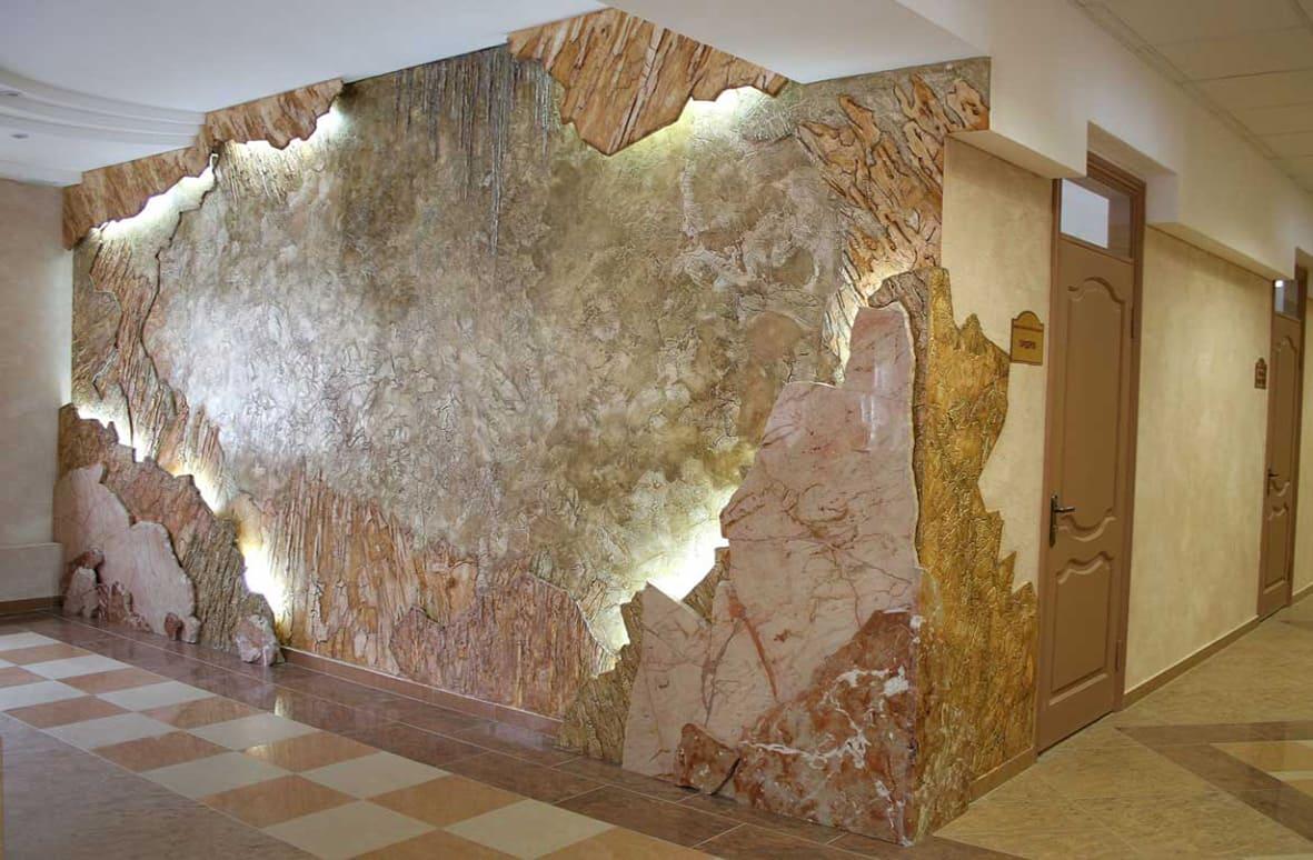 Декоративная штукатурка - лучшие красивые варианты отделки стен в интерьере 085