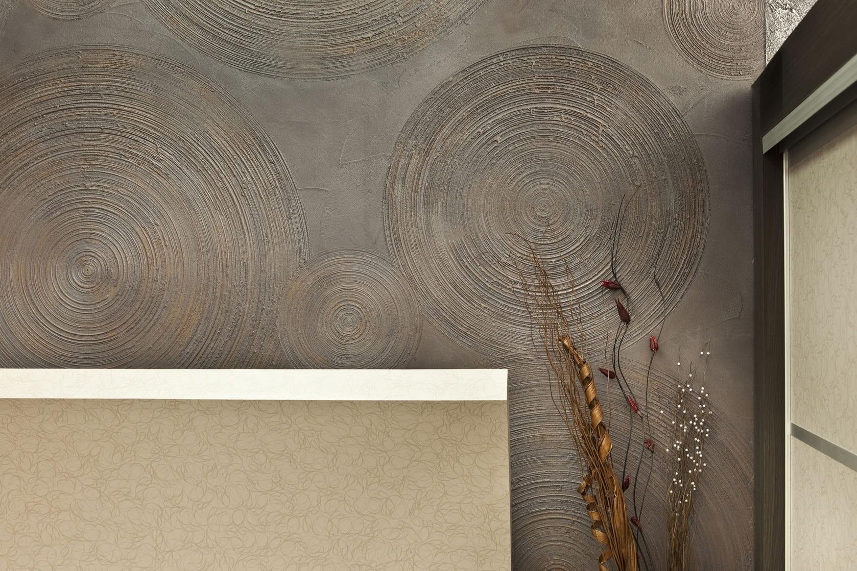 Декоративная штукатурка - лучшие красивые варианты отделки стен в интерьере 096