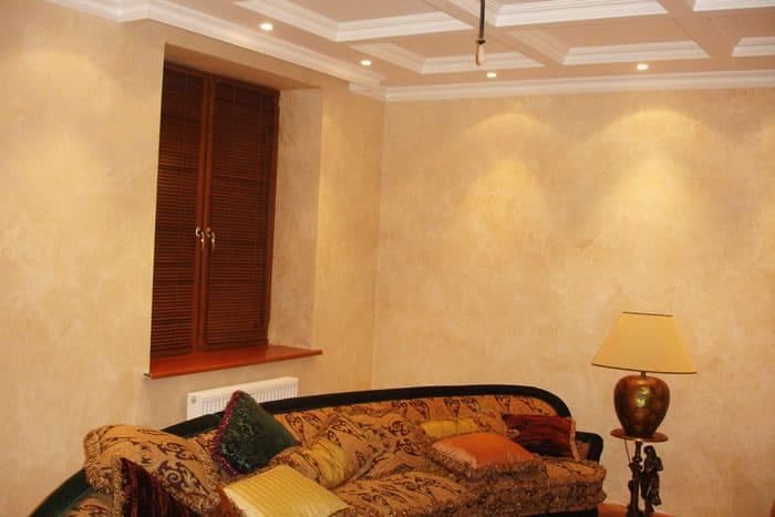 Декоративная штукатурка - лучшие красивые варианты отделки стен в интерьере 097