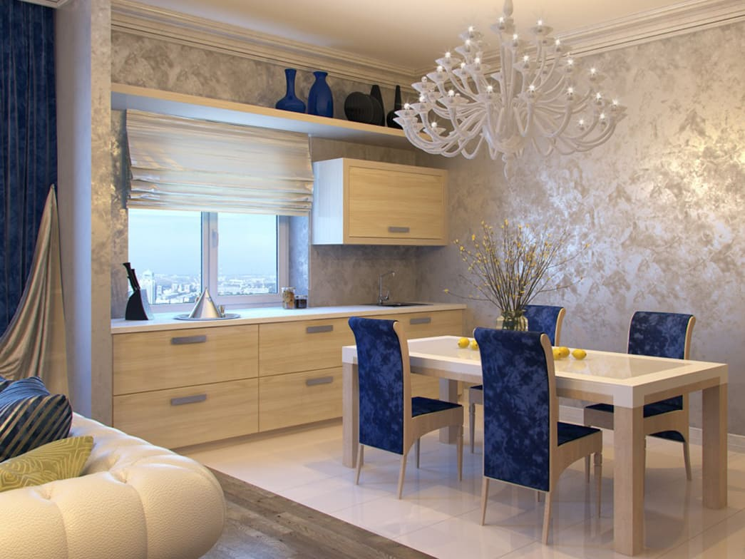 Декоративная штукатурка - лучшие красивые варианты отделки стен в интерьере 098