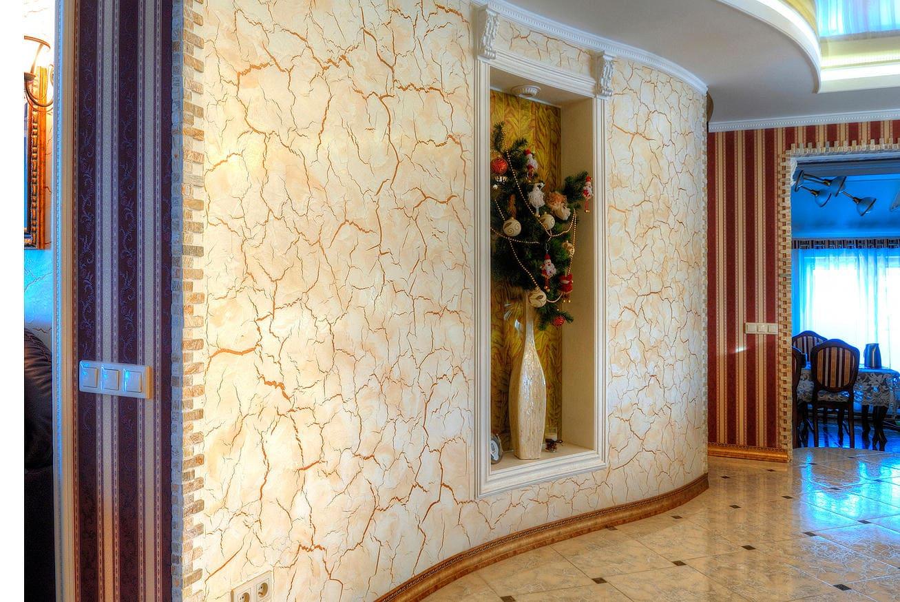 Декоративная штукатурка - лучшие красивые варианты отделки стен в интерьере 102