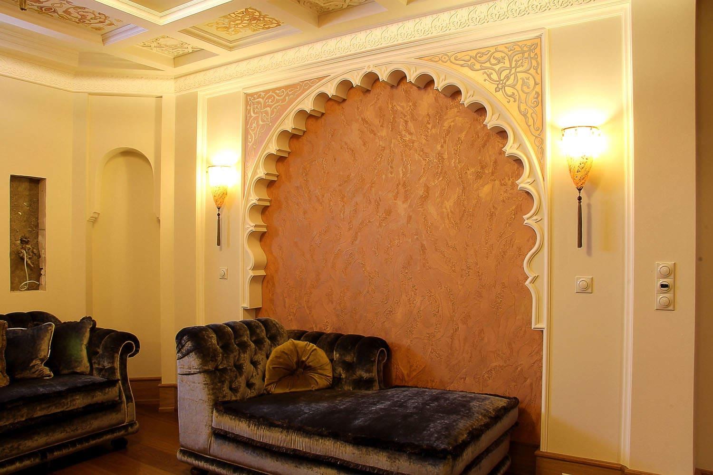 Декоративная штукатурка - лучшие красивые варианты отделки стен в интерьере 103