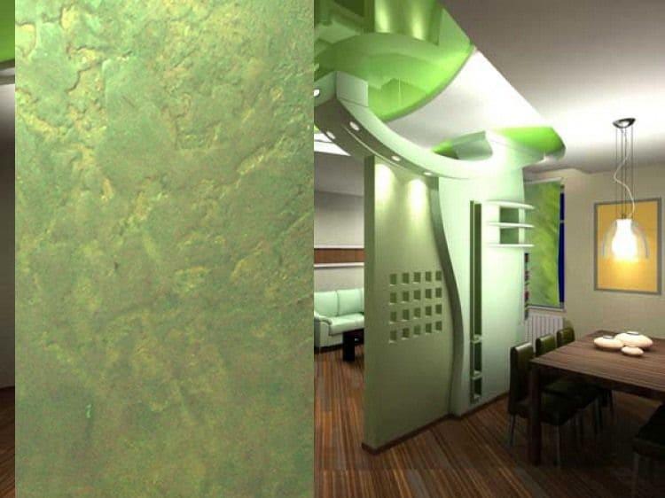 Декоративная штукатурка - лучшие красивые варианты отделки стен в интерьере 108
