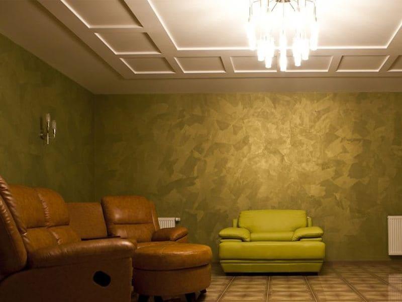 Декоративная штукатурка - лучшие красивые варианты отделки стен в интерьере 109