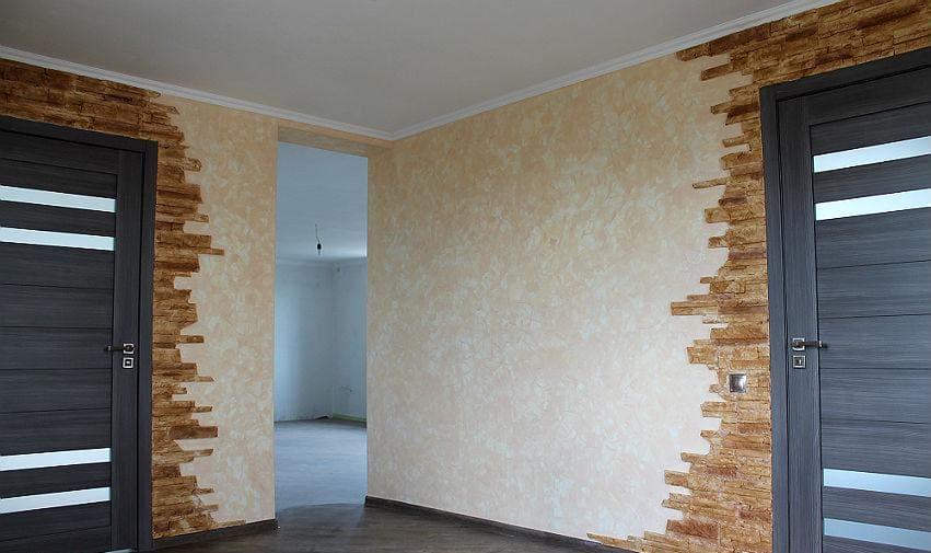 Декоративная штукатурка - лучшие красивые варианты отделки стен в интерьере 110