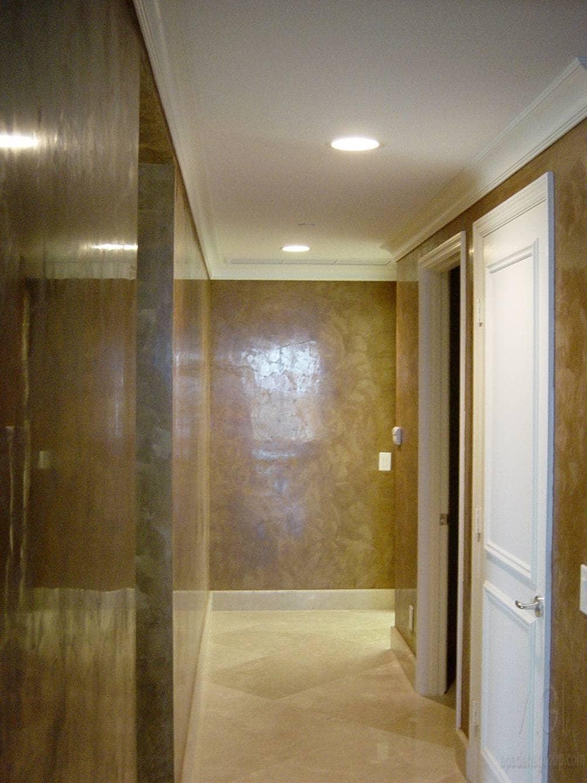 Декоративная штукатурка - лучшие красивые варианты отделки стен в интерьере 115