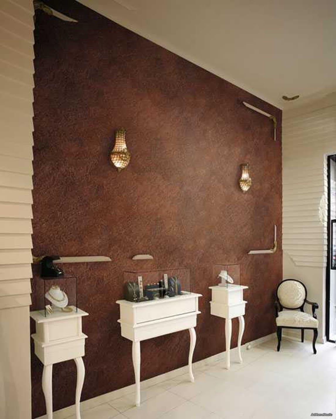 Декоративная штукатурка - лучшие красивые варианты отделки стен в интерьере 116