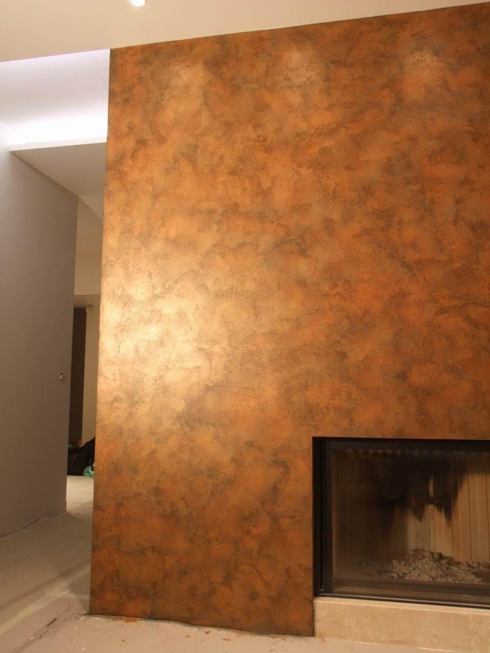 Декоративная штукатурка - лучшие красивые варианты отделки стен в интерьере 119
