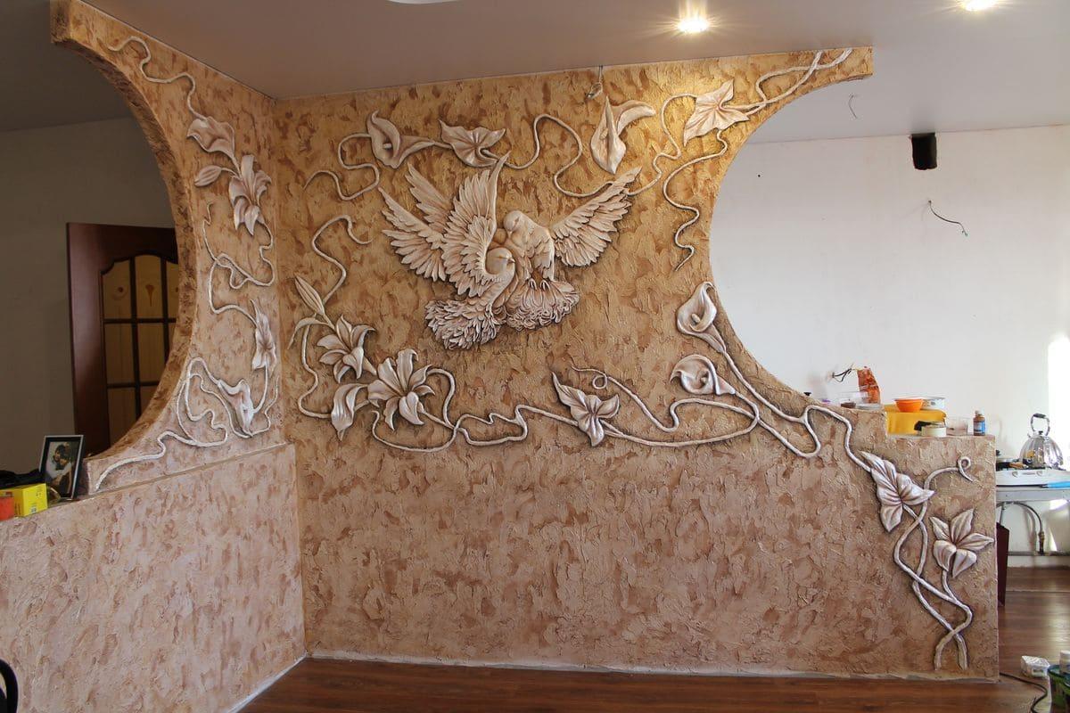 Декоративная штукатурка - лучшие красивые варианты отделки стен в интерьере 136