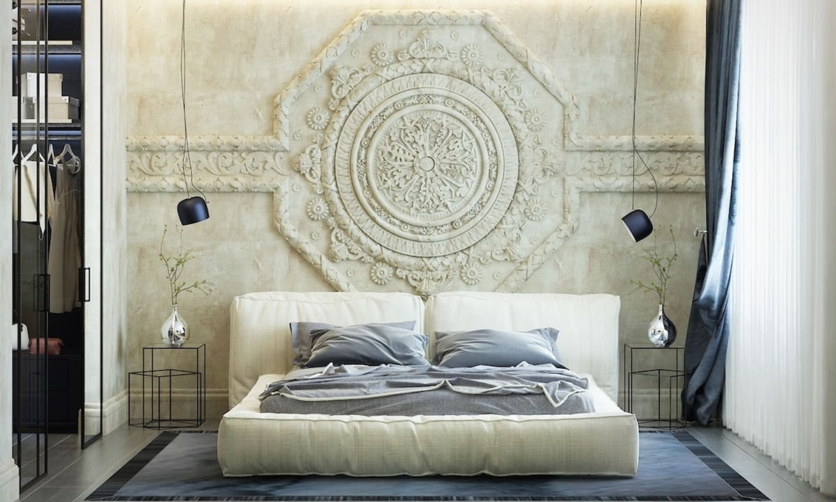 Декоративная штукатурка - лучшие красивые варианты отделки стен в интерьере 138
