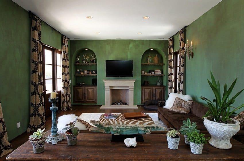 Декоративная штукатурка - лучшие красивые варианты отделки стен в интерьере 189