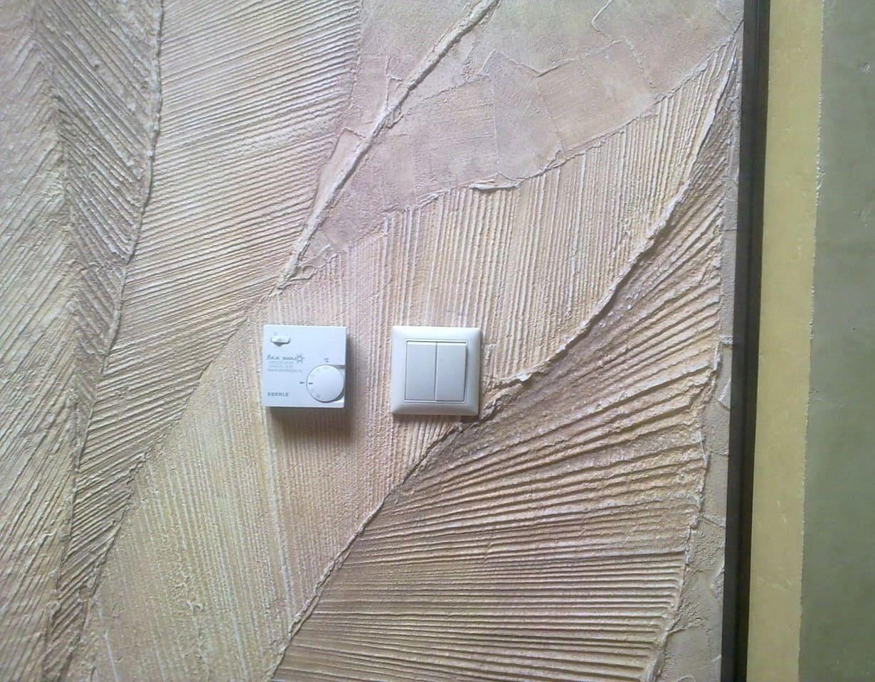 Отделка стен декоративной штукатуркой 013