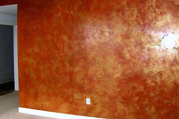 Отделка стен декоративной штукатуркой 017