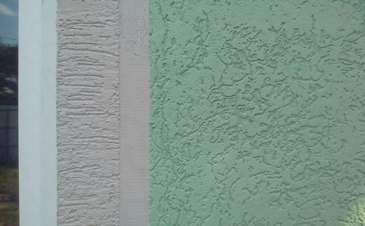 Отделка стен декоративной штукатуркой 021