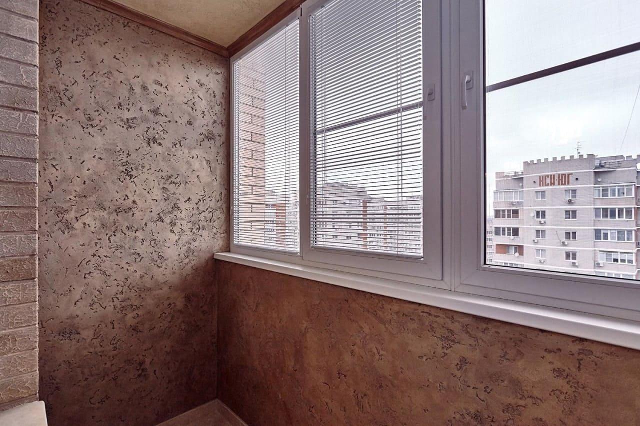Отделка стен декоративной штукатуркой 040